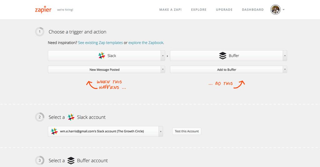 Zapier-Connect-Slack-Buffer-Accounts