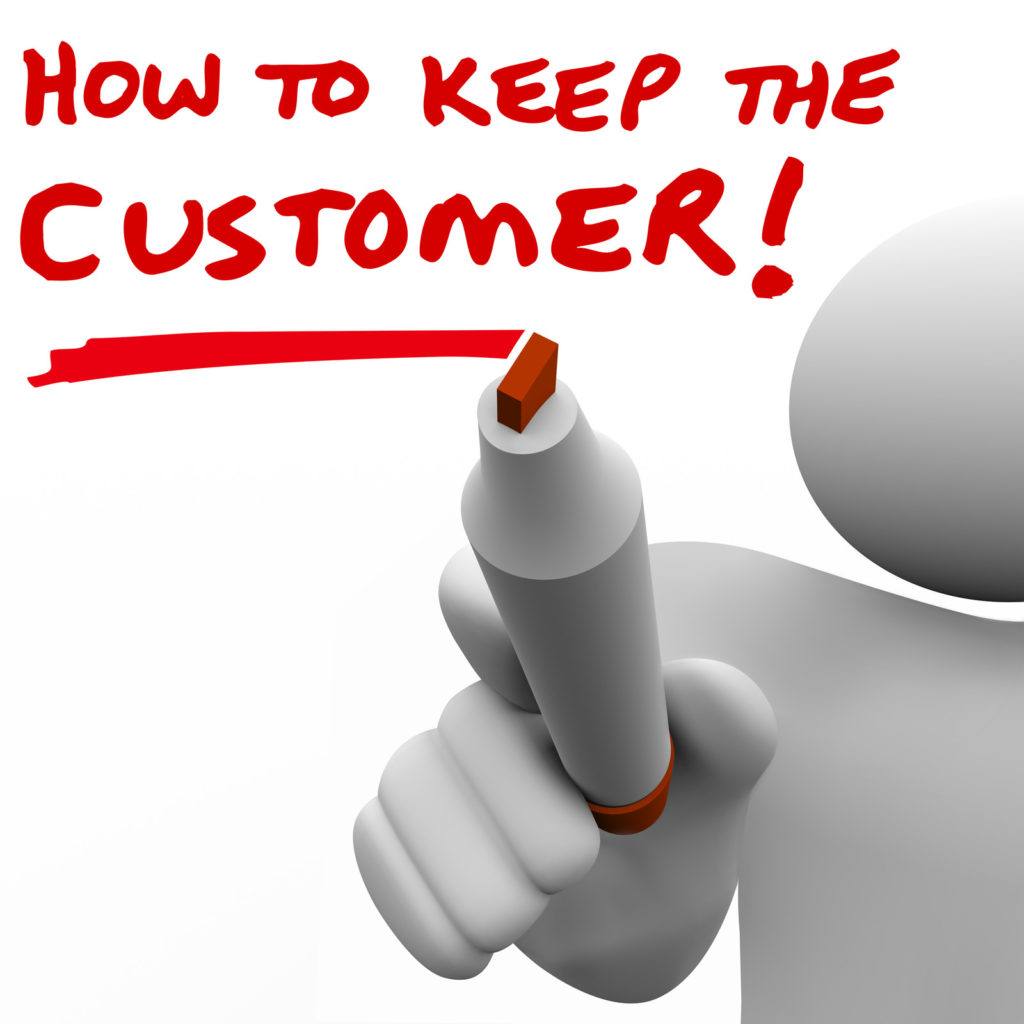 How To Keep The Customer - canstockphoto14935677